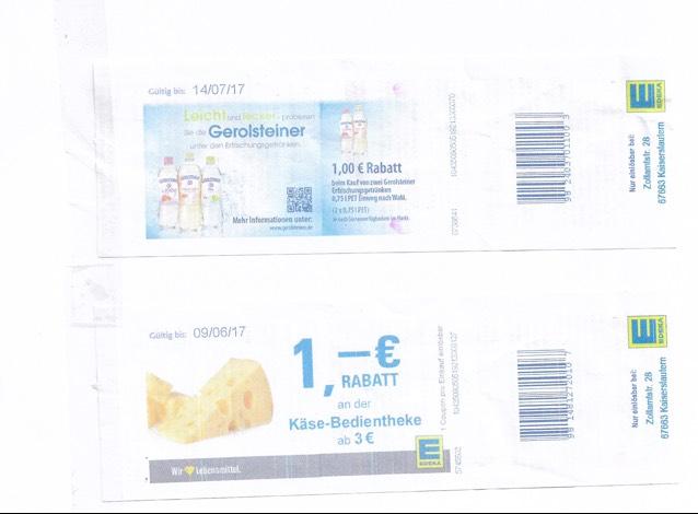 [Lokal Kaiserslautern Edeka] Gerolsteiner und Käse 1€ Rabatt