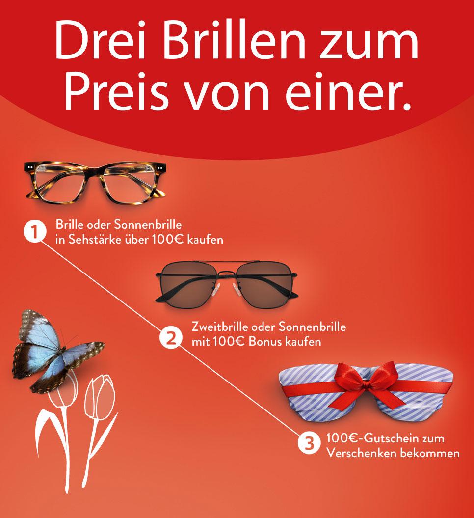 200€ sparen bei (Sonnen-)Brillenkauf mit Sehstärke