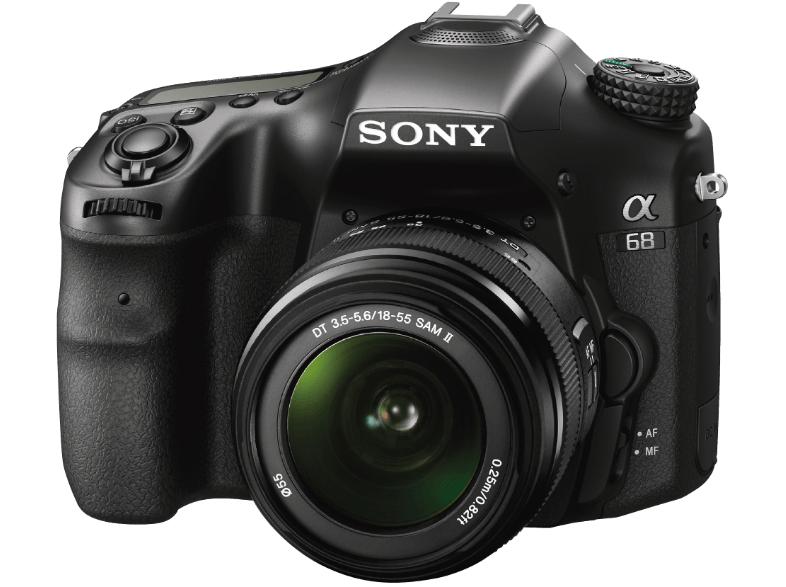 Sony Alpha 68 Kit inkl. SAL-1855 Objektiv (A-Mount, 24 Megapixel, 2,7 Zoll Display, 79-Phasen AF-Messfelder) [lokal: Saturn AC]