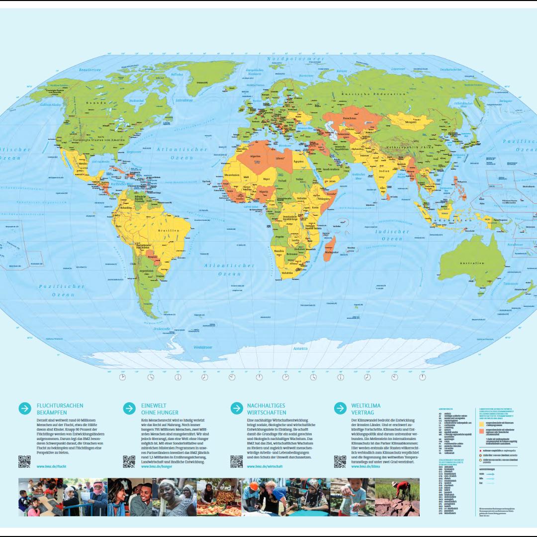 GRATIS Weltkarte von der Bundesregierung 138 x 98 cm Poster/Plakat