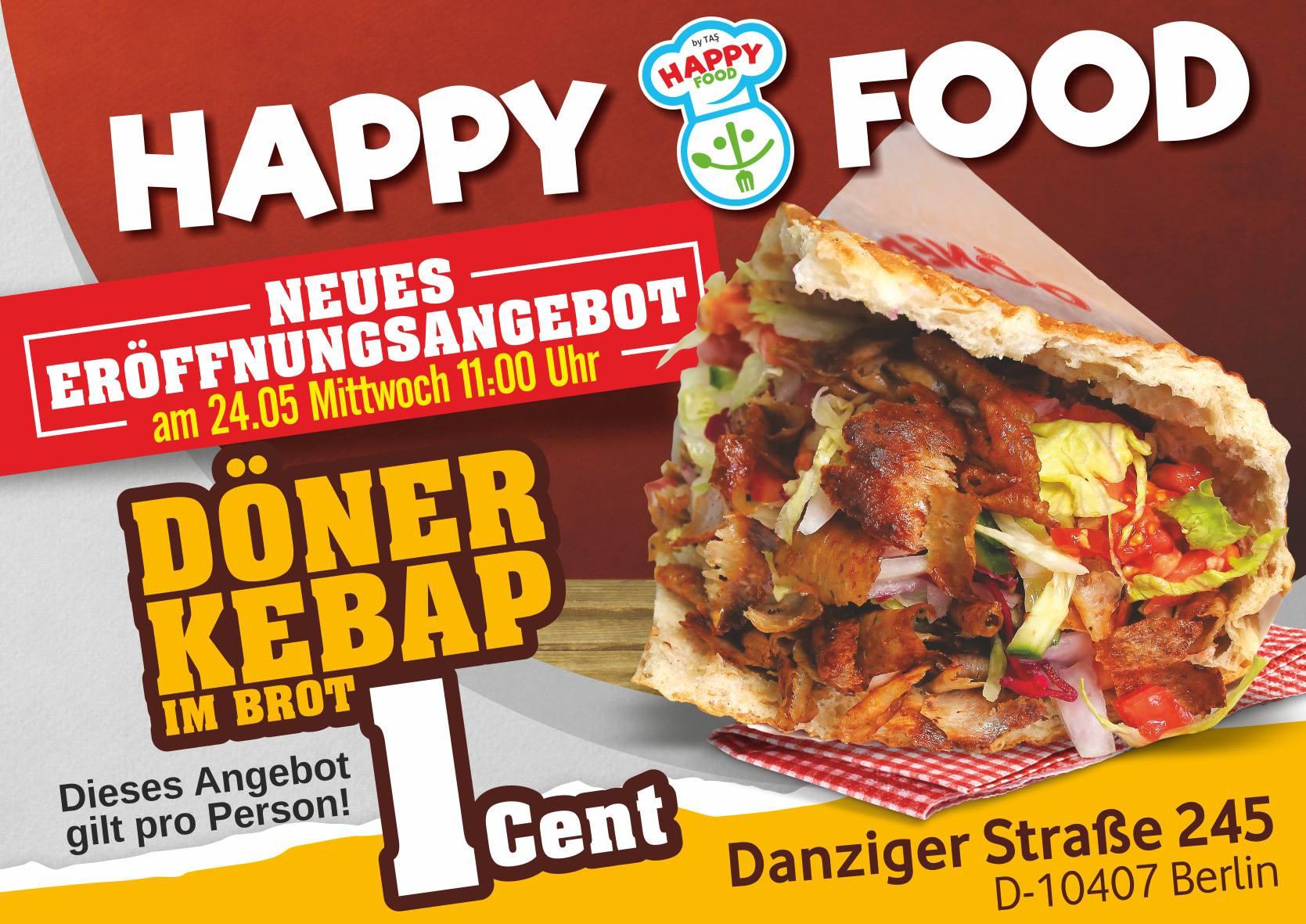 [Lokal Berlin] Neueröffnung Happy Food Döner