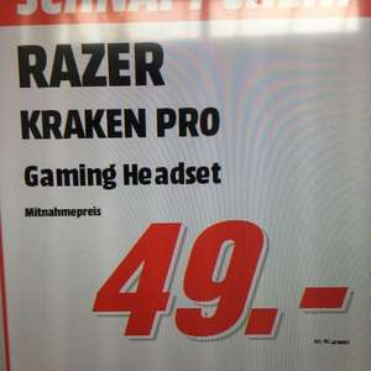 Razer Kraken Pro Stationär [Media Markt FFM Nordwestzentrum]