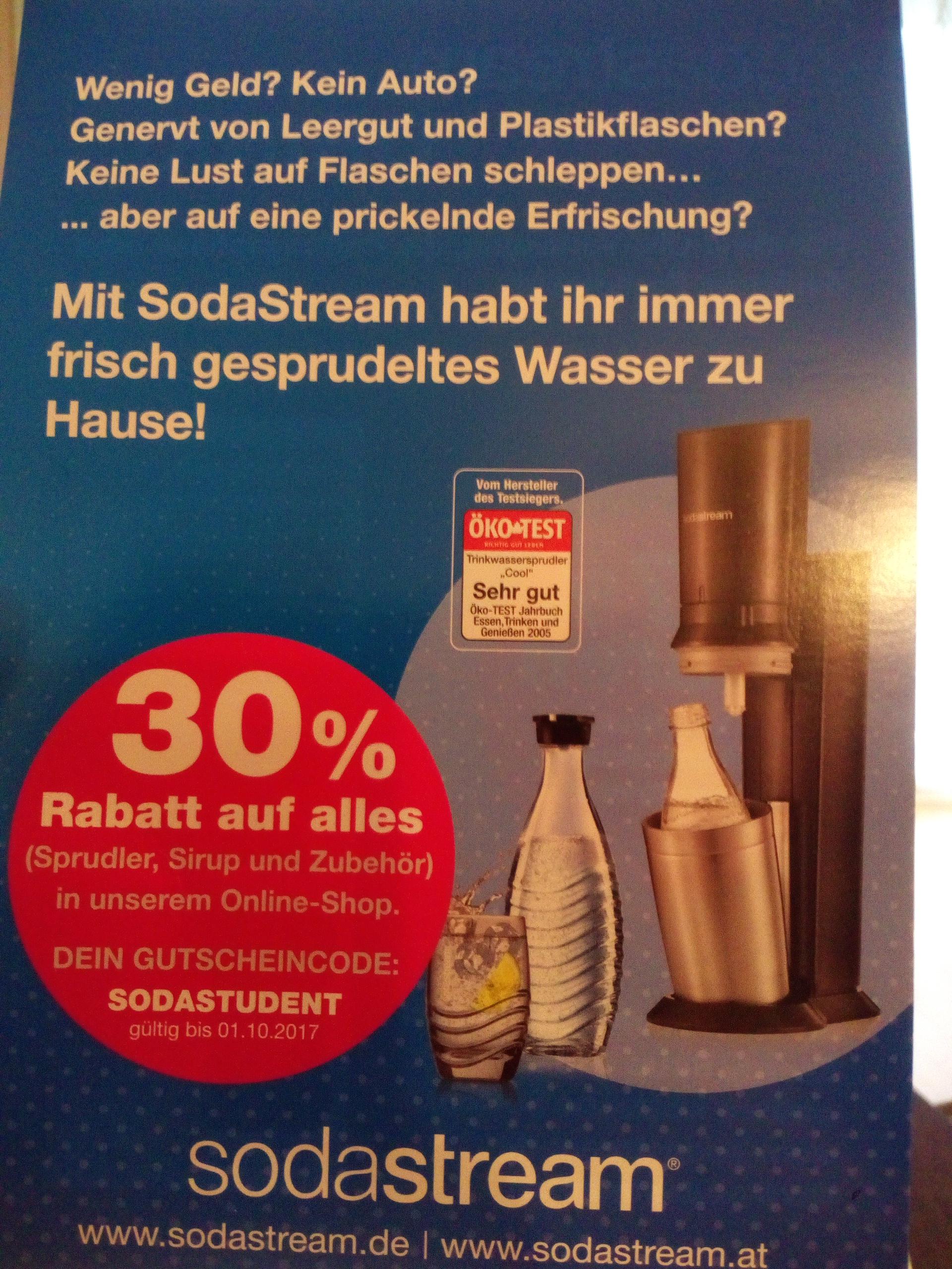 30% auf alles bei sodastream.de