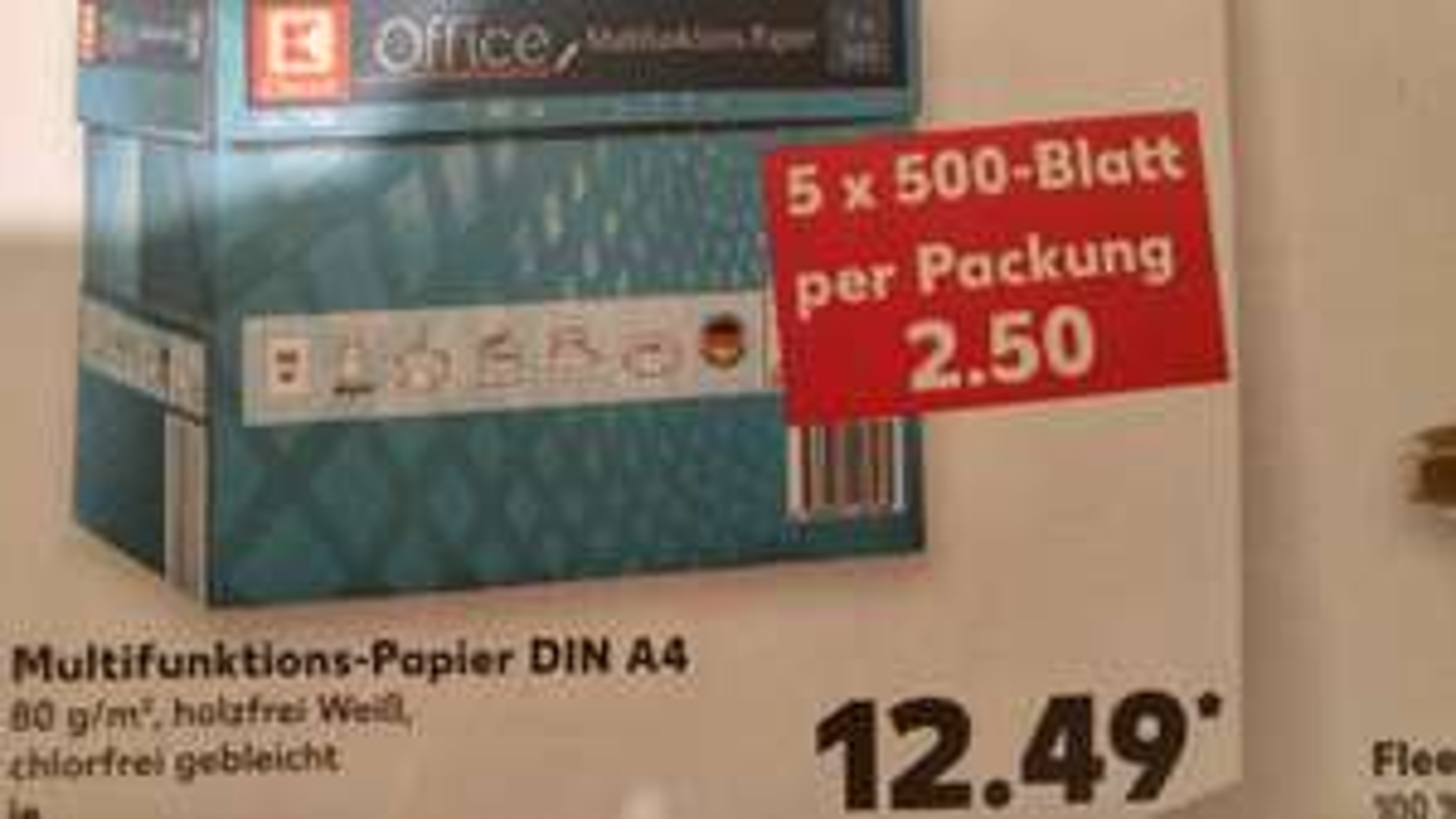 [Offline] Kaufland 5x500 Blatt Kopierpapier 12,49 € ab 26.05.