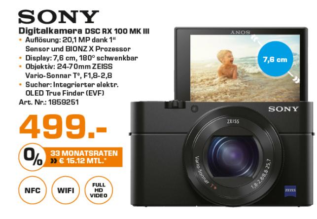 Sony DSC-RX100 III Digitalkamera @Saturn Neueröffnung Stuttgart