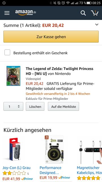 The Legend of Zelda: Twilight Princess HD - [Wii U]nur für Prime