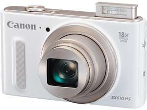 [Media Markt] Canon PowerShot SX610 HS Digitalkamera (20,2 Megapixel CMOS, HS-System, 18-fach optisch, Zoom, 36-fach ZoomPlus, opt. Bildstabilisator, 3 Zoll Display, Full HD Movie, Wireless Lan, NFC) in weiß