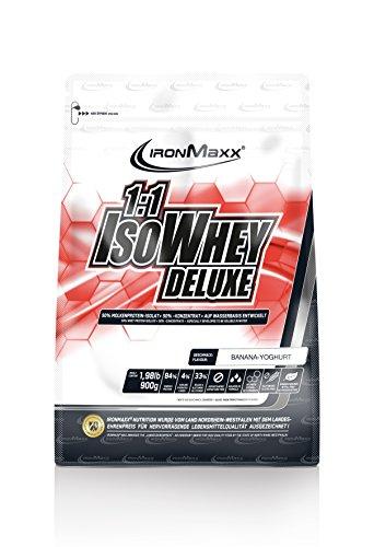 IronMaxx 1:1 IsoWhey Deluxe 900g bei Amazon zb. Banane Joghurt 12,99€ und verschiedene Sorten