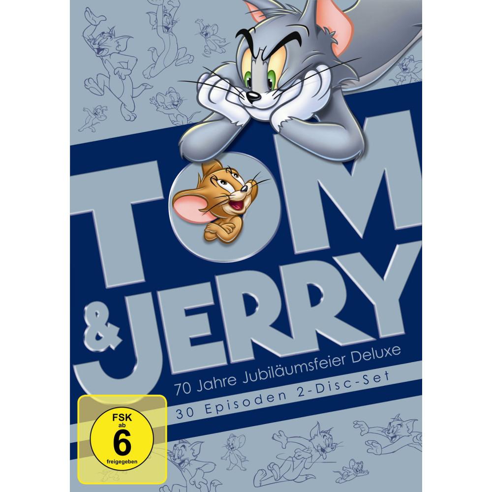 Tom und Jerry - 70 Jahre Jubiläumsfeier Deluxe (2 DVDs) für 5€ (Müller + Amazon)