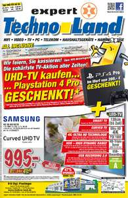 Technoland Deizisau PS4 PRO zu TV geschenkt