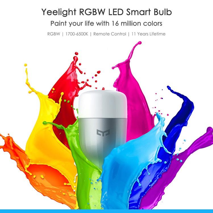 Xiaomi Yeelight RGBW E27 Smart LED Lampe für 13,68€ inklusive Versand [Gearbest]