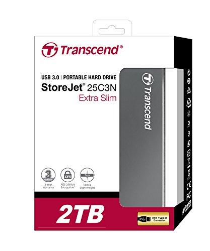 Transcend StoreJet 2TB externe 2.5 Zoll Festplatte USB 3.0