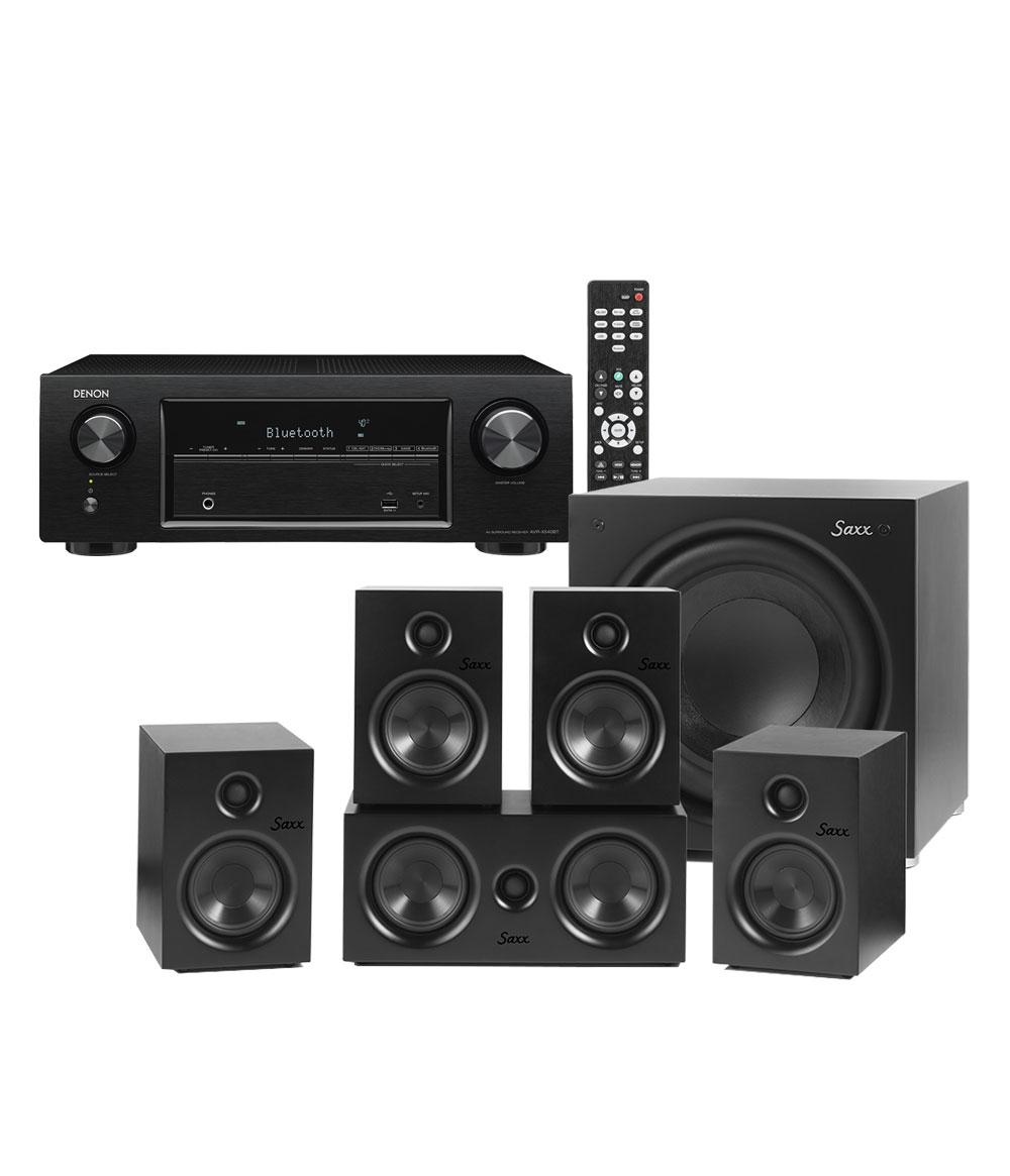 Denon AVR-X540BT & Saxx CR 5.1 699€ statt 878€ schwarz und weiß