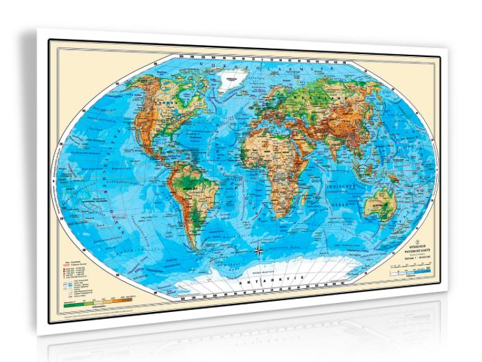 XXL Relief-Weltkarte für 9,97€ inkl. Versand @Amazon Geosmile