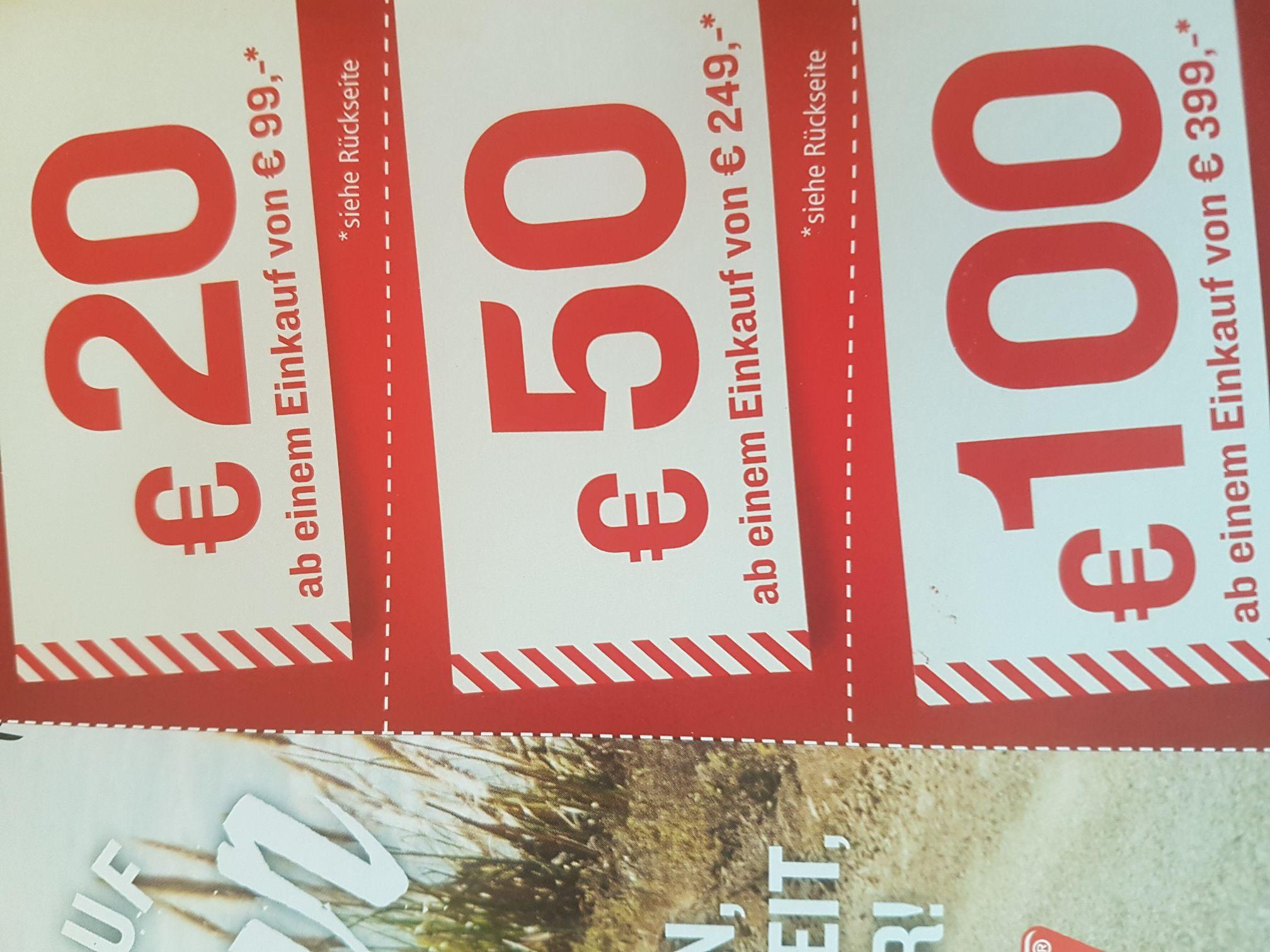 POLO Motorrad Gutscheine 20/50/100 Euro ab 99/249/399 Euro Einkaufswert