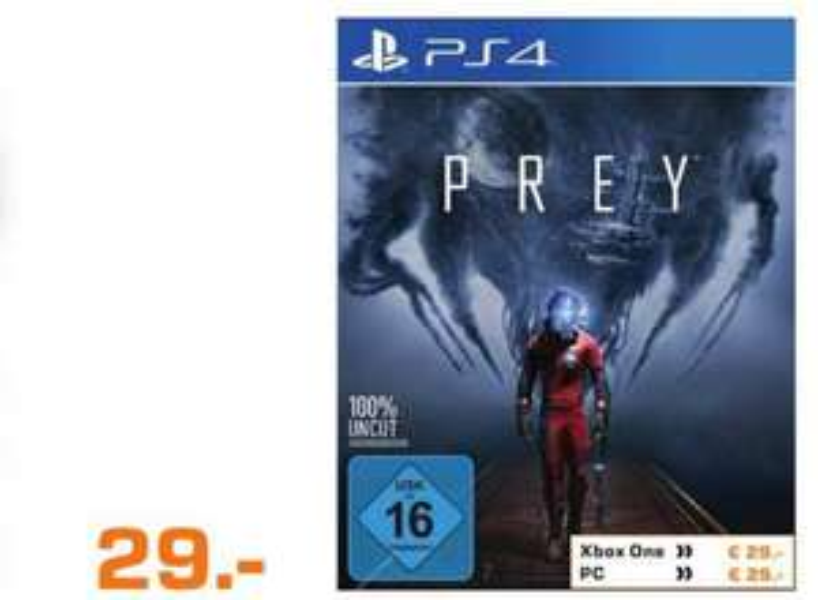 [Lokal Saturn  Köln Hansaring] Prey (Playstation 4/Xbox One/PC] für je 29,-€ und weitere Games wie zb. The Elder Scrolls Online Morrowind (PS4/XB1) für 39,-€