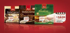 Melitta Film Aktion -- startet bei Marktkauf/Edeka -- 2 Packungen Pads für 3 Euro kaufen --1 DVD bekommen