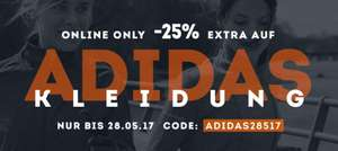 25% Rabatt auf Adidas Kleidung bei SportScheck
