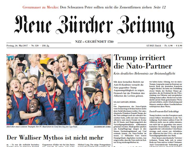 Neue Zürcher Zeitung (NZZ) heute kostenlos als pdf