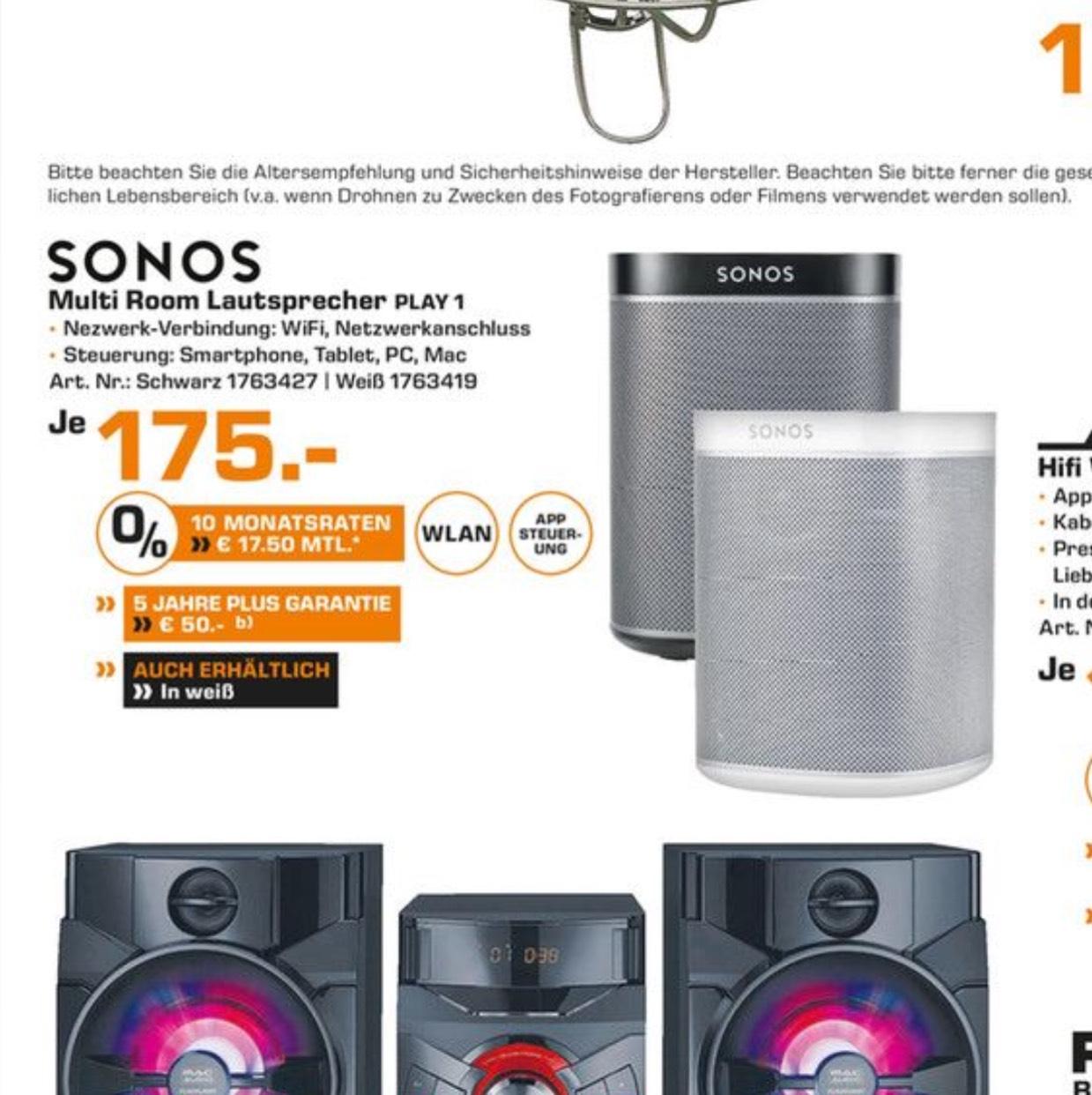 Sonos PLAY:1 schwarz oder weiß [Lokal Saturn Dortmund]