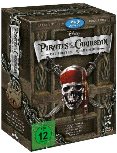 Pirates of the Caribbean - Die Piraten-Quadrologie (5 Blu-rays) [Blu-ray]      @ Amazon