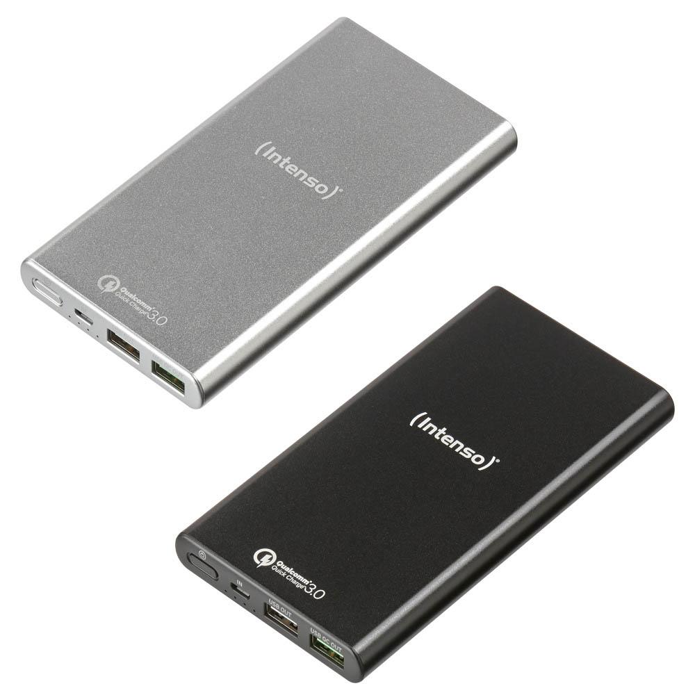 [Medimax] Intenso Powerbank Q10000 mit Quickcharge 3.0 in Silber & Schwarz