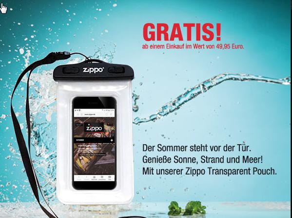 Ein Zippo Transparent Pouch kostenlos zu jeder Bestellung ...