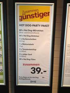 @IKEA Hot Dog Party Pack 60Stk.