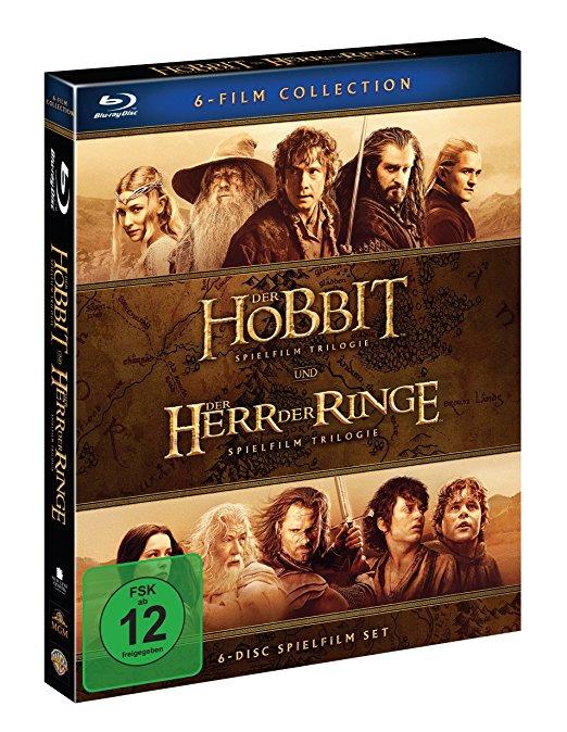 Mittelerde Collection [Blu-Ray]: Der Hobbit Trilogie + Der Herr Der Ringe Trilogie für 23,99 € > amazon.de > Prime