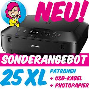 Canon PIXMA MG5650 MG 5650 im XXL-Set inkl. 25 XL-PATR0NEN +USB +FOTOPAP!ER NEU!