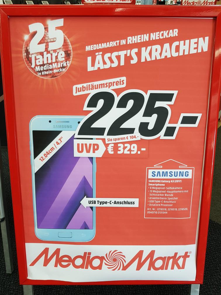 [Lokal HD, MA, LU, HP, Rhein-Neckar] Samsung Galaxy A3 (2017) - SM-A320F für 225,- Euro; S7 Edge + Gear 360 (2017) für zusammen 549,- Euro; S7 + Gear VR (inkl. Controller) für zusammen 469,- Euro