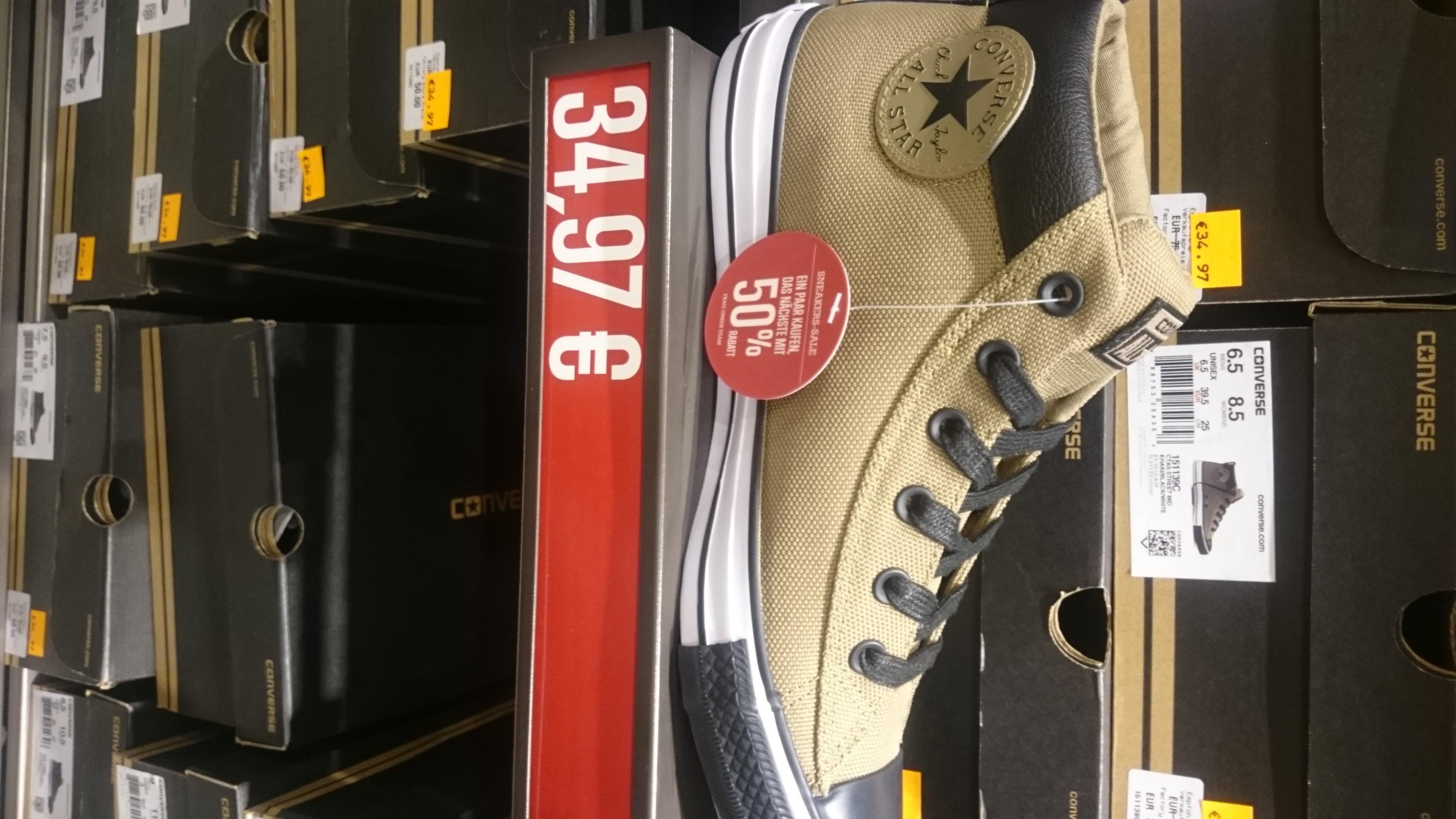 50% für das 2. Paar Schuhe - Converse Shop Outletcity Metzingen + Outlet Zweibrücken