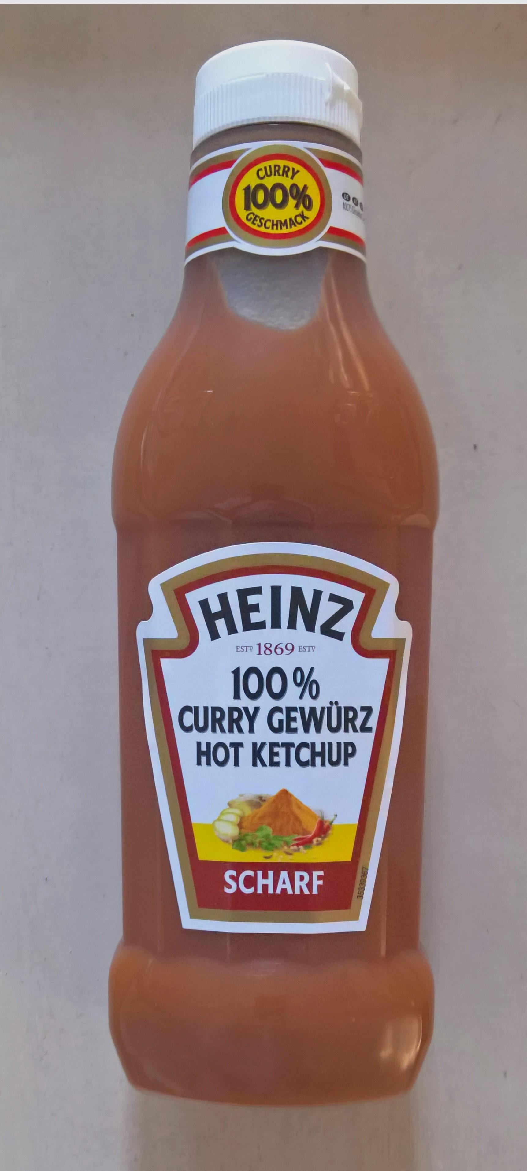 590 ml Heinz Curry Ketchup Scharf/Hot [1-€-Shop]