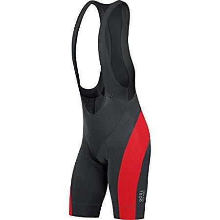 Gore Bike Wear Trägerhose Power 3.0 - kurz Schwarz/Rot in Größe M - für 56,05€ @Amazon.it
