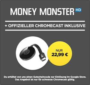 Google Chromecast 2 + Money Monster als HD-Stream nur 22,99€