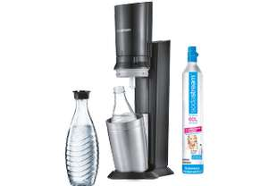 Media Markt: Sodastream Crystal 2.0 Titan 131651149 + weitere Glaskaraffe (+4% Shoop & 5€ MM Coupon) VGP 124€