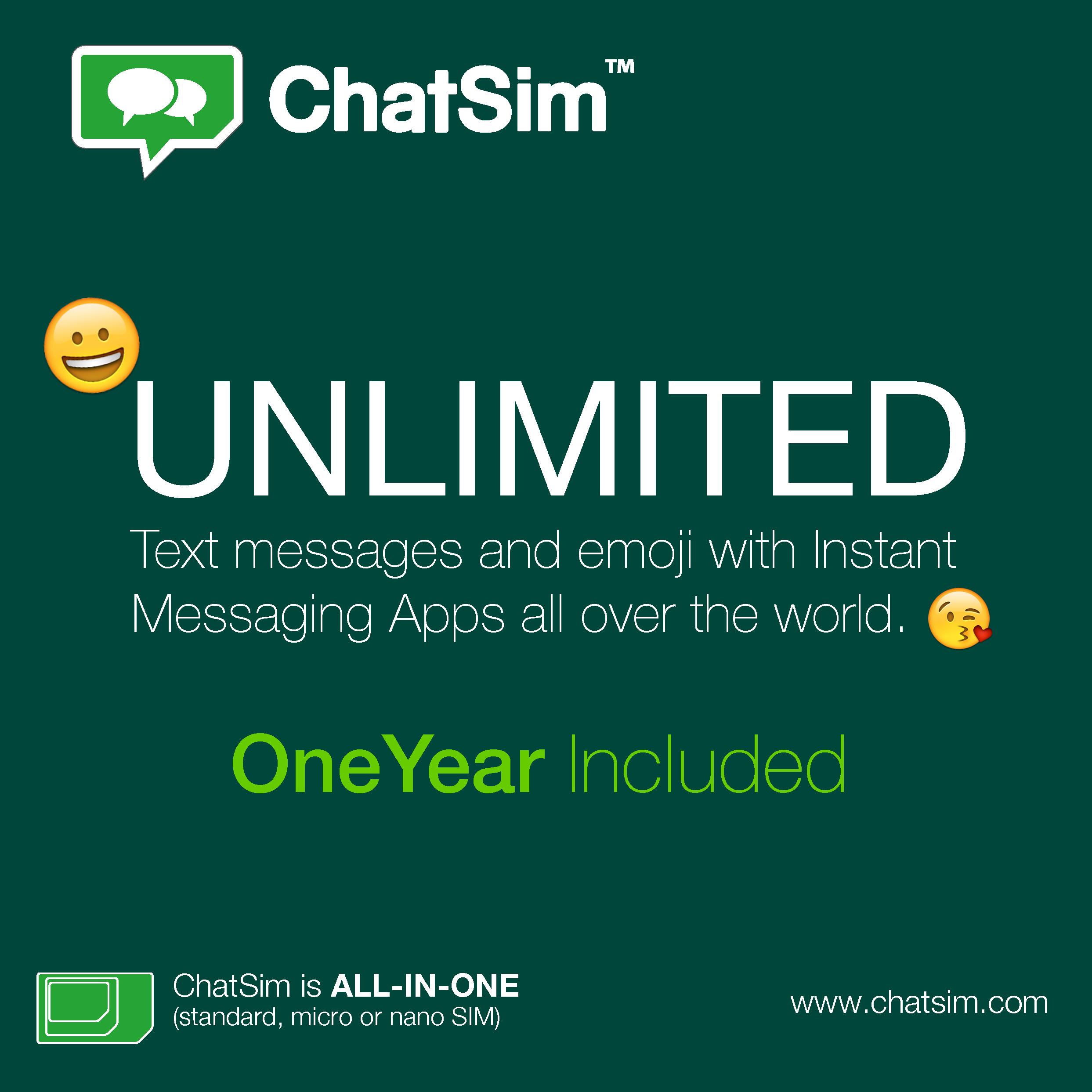 ChatSim Sim-Karte für 1€ statt 16€ (weltweite Messengernutzung)
