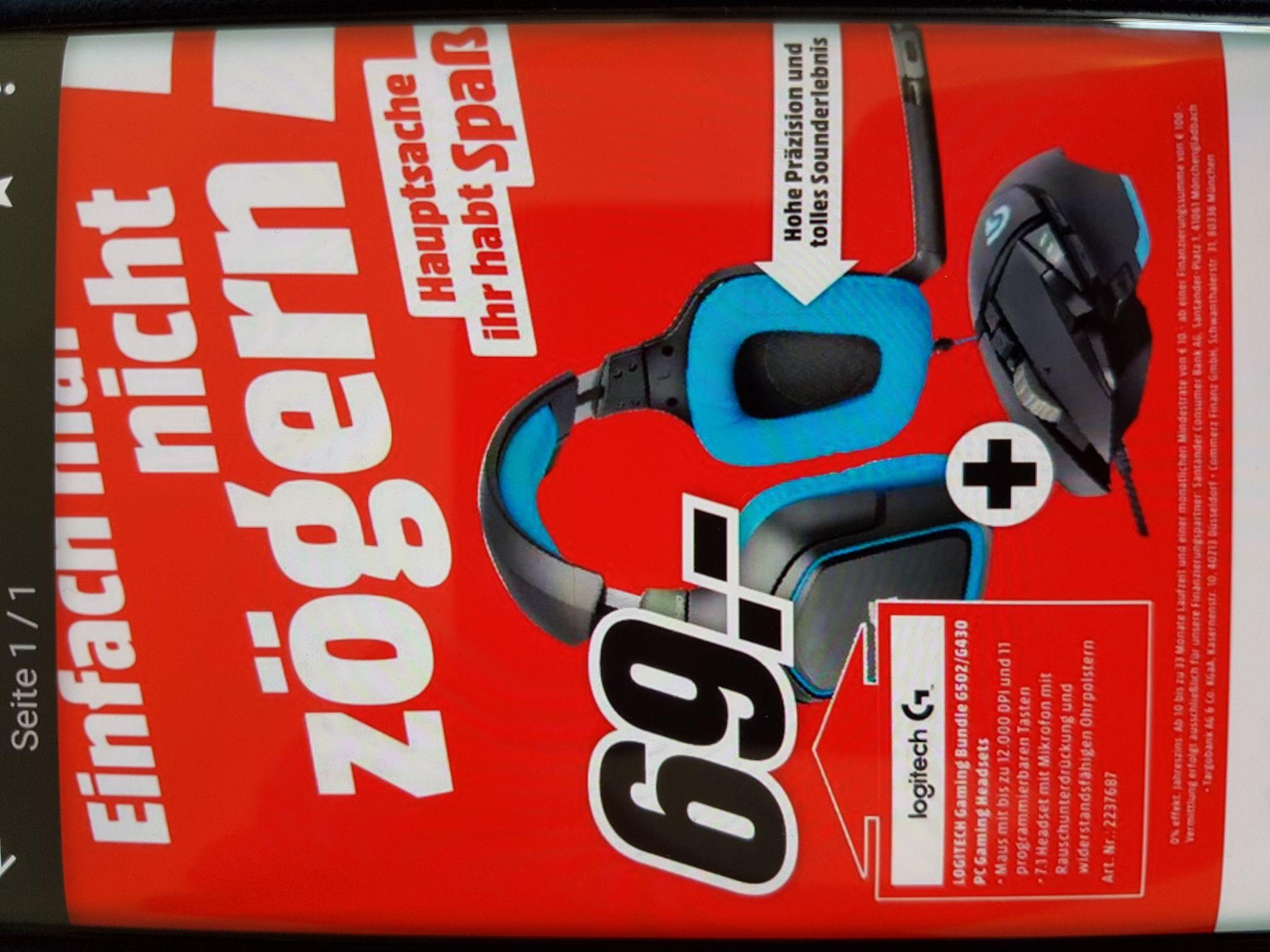 Logitech Gaming  bundle aktion G502/G430 lokal media markt Wuppertal