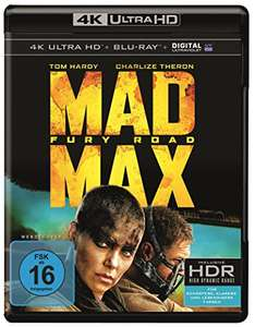 [amazon.de] Mad Max Fury Road u.a. 4K Ultra HD Blu-ray Filme ab 21,19 Euro inkl. Versandkosten