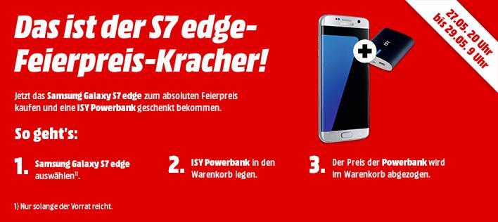 Samsung S7 edge 32GB + Powerbank @ MediaMarkt online