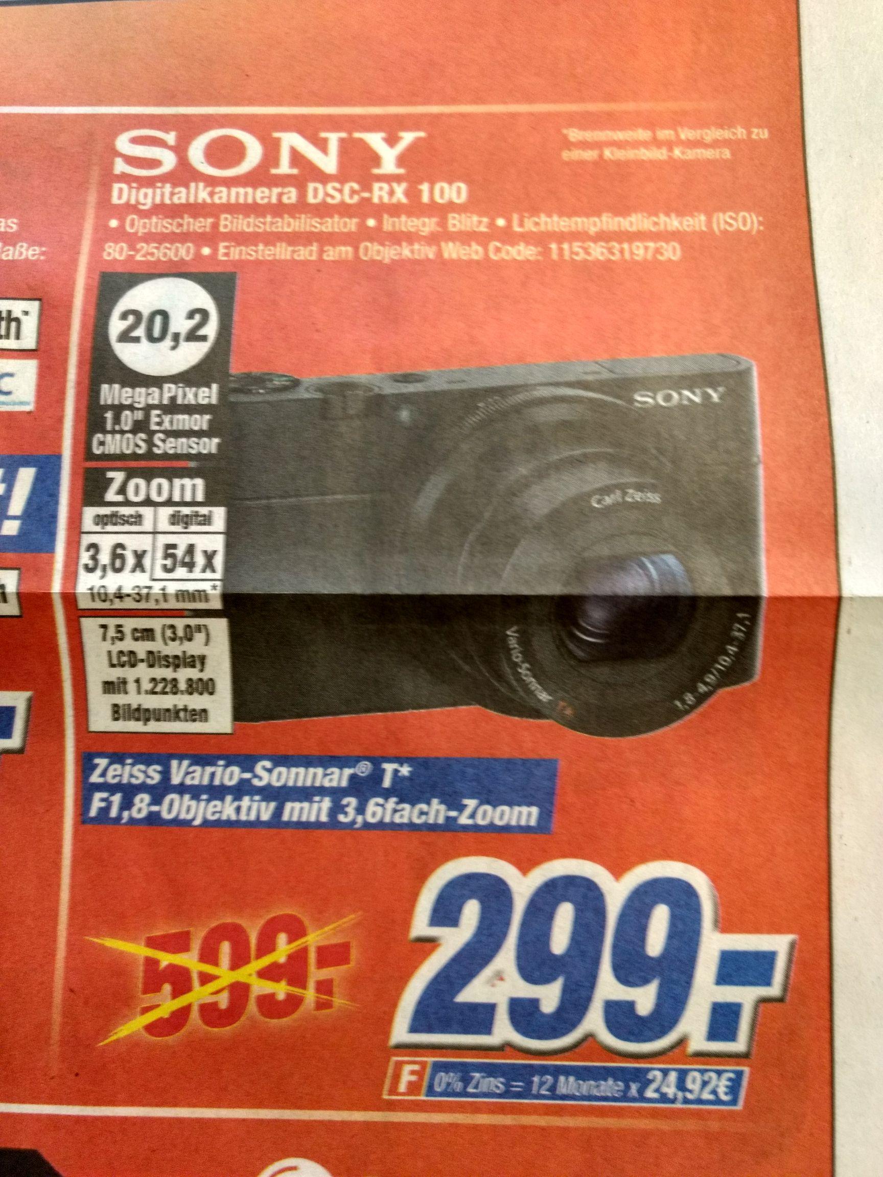 [Lokal] Expert Klein Sony DSC-RX100