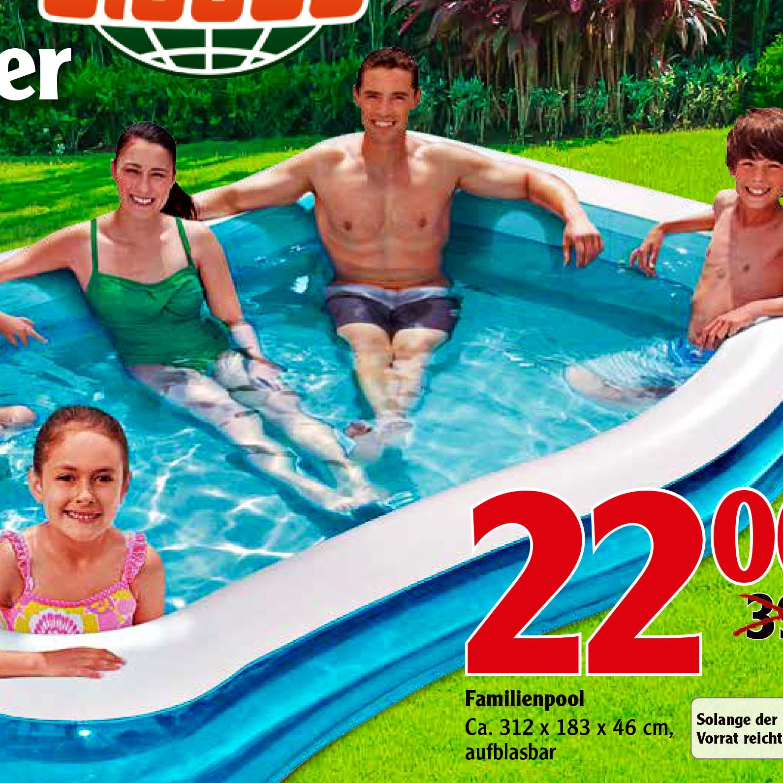 Deutschland lernt schwimmen! Ein Schwimmbecken für nur 22 € bei Globus