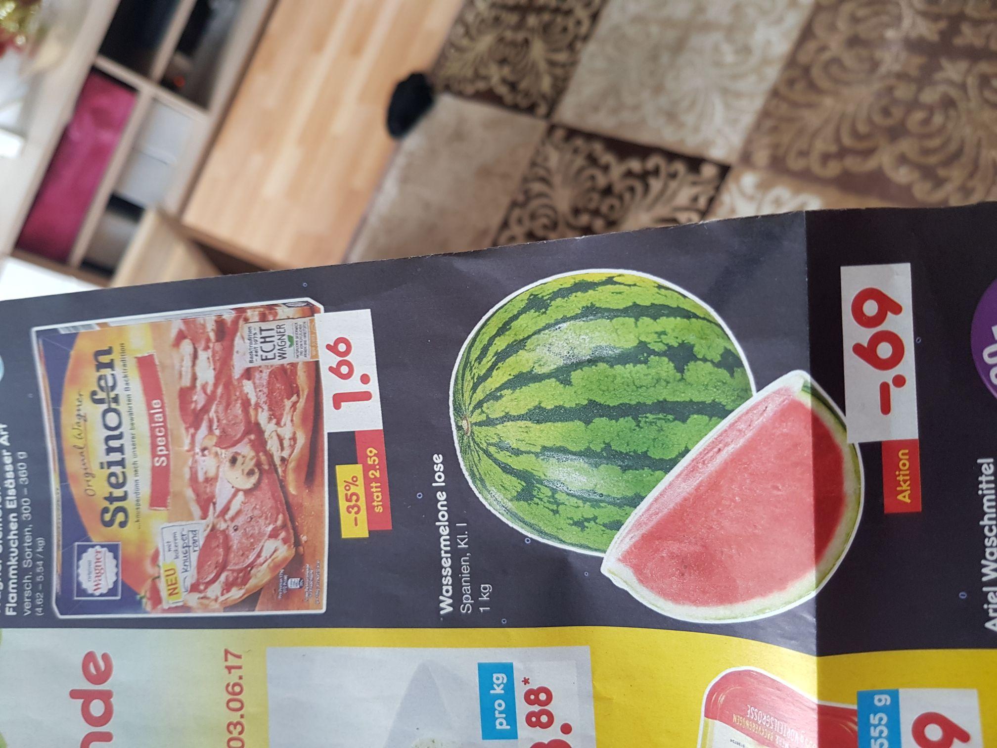 Netto Bielefeld Wassermelone kg 0.69€ ab 01.06.2017