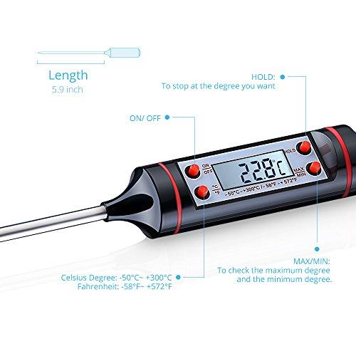 [Amazon Prime] Digitales Küchenthermometer / Haushaltsthermometer mit langer Sonde & LCD-Bildschirm für 5,99€ statt 7,99€