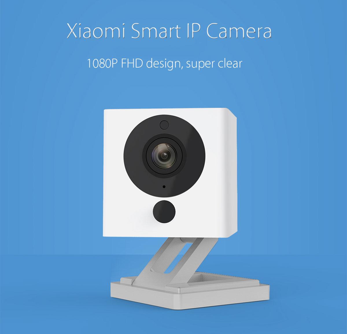 Original Xiaomi Smart 1080P WiFi IP Kamera mit Nachtsicht-Funktion - White [Gearbest] zum Bestpreis