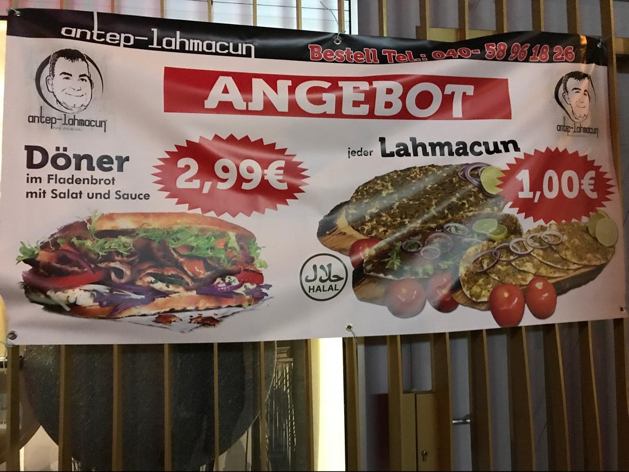 Lahmacun 1€ Döner 2,99€ Direkt Bahnhof Altona