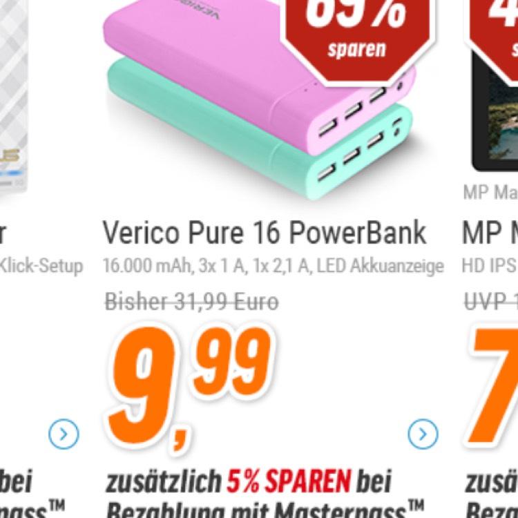 [NBB] Vericon Pure 16 Powerbank 16.000mAh