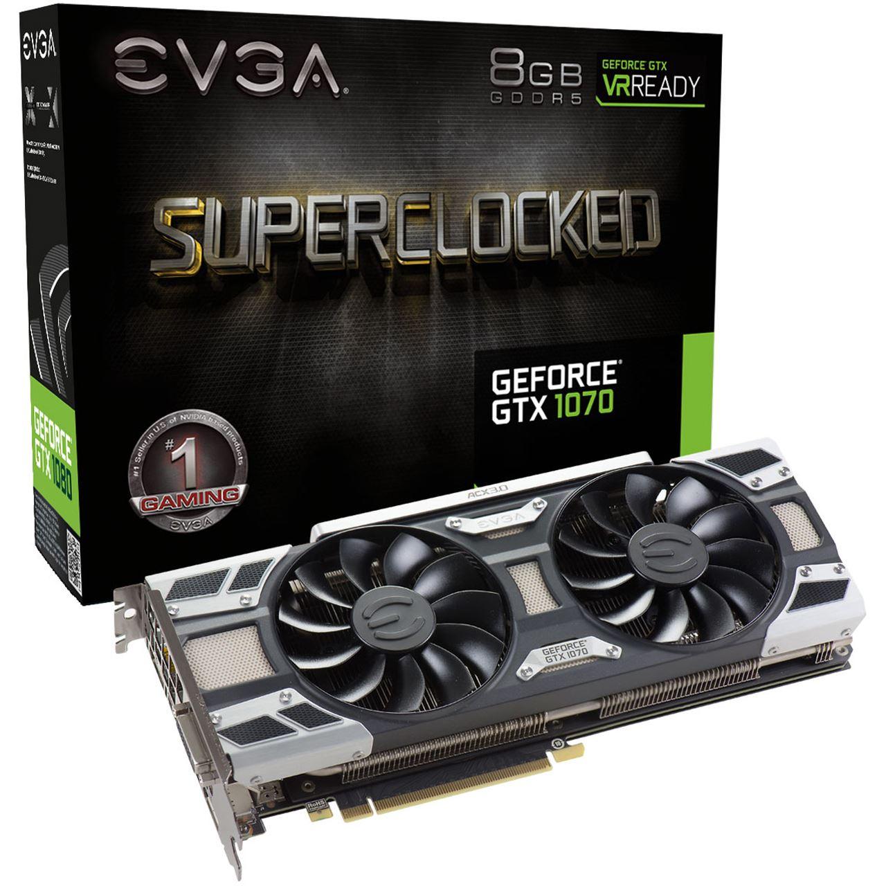EVGA GeForce GTX 1070 SC oder FTW ab 367 € mit Masterpass [Notebooksbilliger]