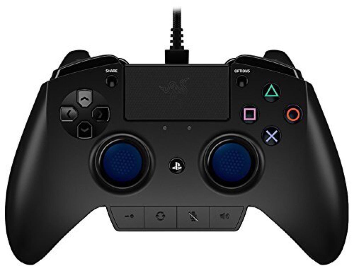 -AMAZON-Anstatt 169€  jetzt für 122€ Razer Raiju Offizieller Playstation 4 Gaming Controller (PS4 Controller mit vier programmierbaren Tasten, Quick Control Panel und für Esports optimierte Ergonomie) schwarz