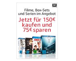 Filme, Serien und Boxsets für 150€ kaufen und 75€ Rabatt erhalten bei Amazon